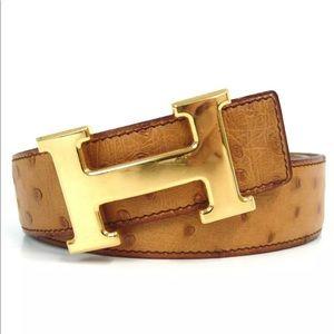 Hermès Constance Ostrich belt